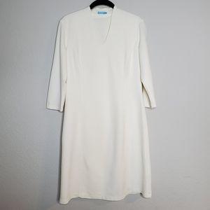 J. McLaughlin cream ivory Ivana Sheath Dress